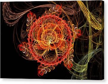Fractal - Abstract - Mardi Gras Molecule Canvas Print by Mike Savad