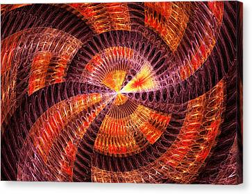 Fractal - Abstract - The Constant Canvas Print by Mike Savad