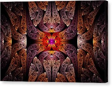 Fractal - Aztec - The Aztecs Canvas Print by Mike Savad