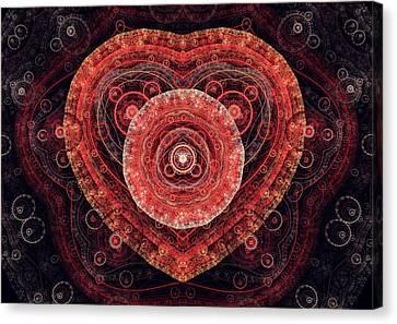 Fractal Heart Canvas Print by Martin Capek
