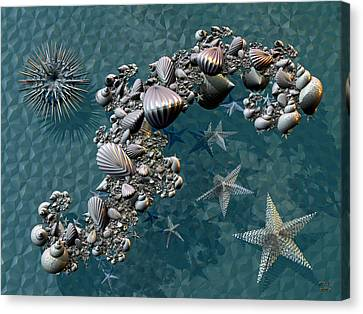 Fractal Sea Life Canvas Print by Manny Lorenzo