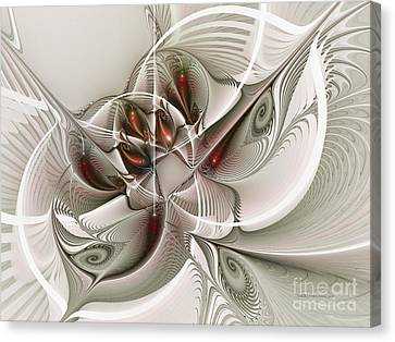 Fractal With Interior View Canvas Print by Karin Kuhlmann
