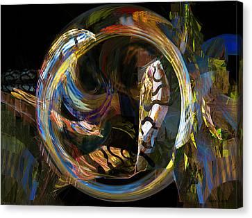 Fractals - Fish Tank Canvas Print by Susan Savad