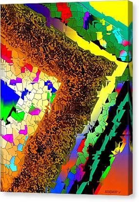 Fractionated Desing Canvas Print by Mario Perez
