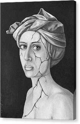 Fractured Identity Bw Canvas Print by Leah Saulnier The Painting Maniac