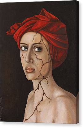 Fractured Identity Edit 1 Canvas Print by Leah Saulnier The Painting Maniac