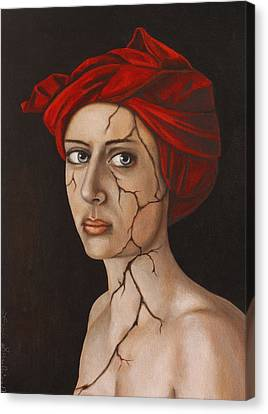 Fractured Identity Edit 3 Canvas Print by Leah Saulnier The Painting Maniac
