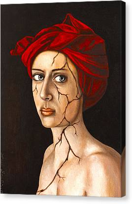 Fractured Identity Edit 4 Canvas Print by Leah Saulnier The Painting Maniac