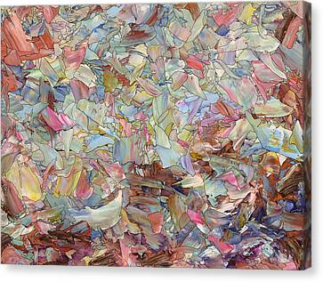 Fragmented Hill Canvas Print by James W Johnson