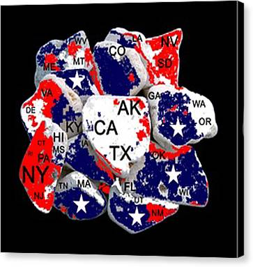 Fragmented States Of The Union Canvas Print by Bruce Iorio