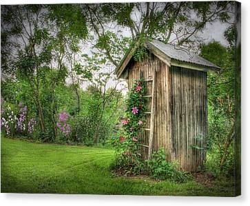 Fragrant Outhouse Canvas Print by Lori Deiter