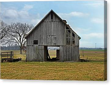 Framed Barn Canvas Print by Steven  Michael