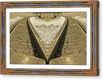 Framed Heart Canvas Print by Betsy C Knapp