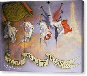France Belle Et Rebelle Un Canvas Print by Guillaume Bruno