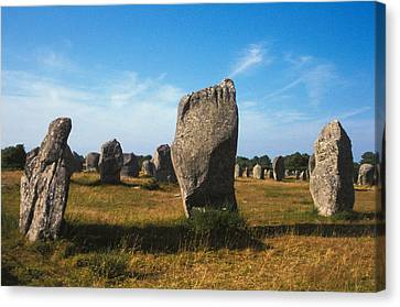 France Brittany Carnac Ancient Megaliths  Canvas Print by Anonymous