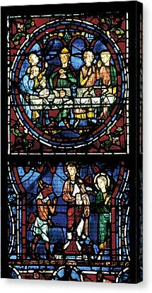 France. Chartres. Notre Dame Cathedral Canvas Print by Everett