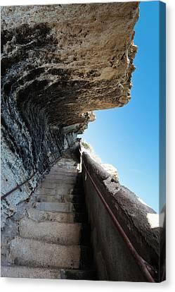 France, Corsica, Bonifacio, Escalier Du Canvas Print by Walter Bibikow