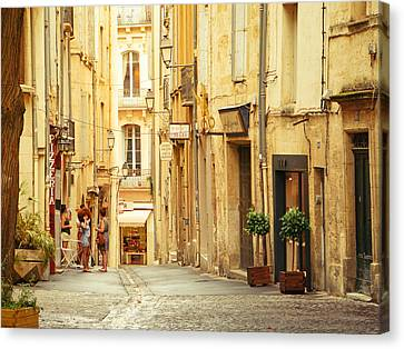 France - Montpellier - Europe Canvas Print by Vivienne Gucwa