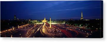 France, Paris, Place De La Concorde Canvas Print by Panoramic Images