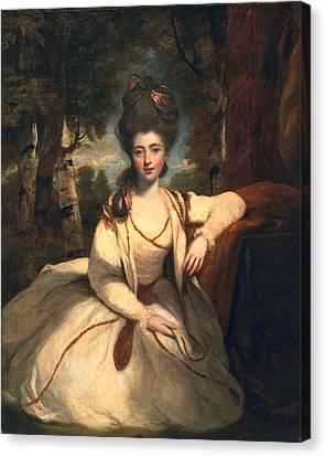 Frances Molesworth, Later Marchioness Canvas Print by Sir Joshua Reynolds