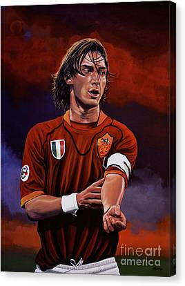 Francesco Totti Canvas Print by Paul Meijering