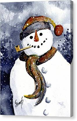 Franci's Snowman Canvas Print by Sam Sidders