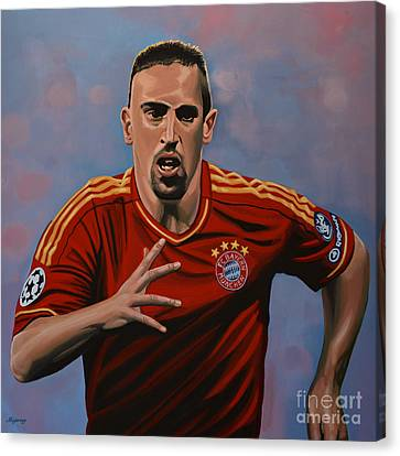 Franck Ribery Canvas Print by Paul Meijering