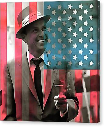 Frank Sinatra American Legend Canvas Print by Dan Sproul