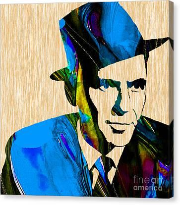 Frank Sinatra Art Canvas Print by Marvin Blaine