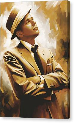 Frank Sinatra Artwork 1 Canvas Print by Sheraz A