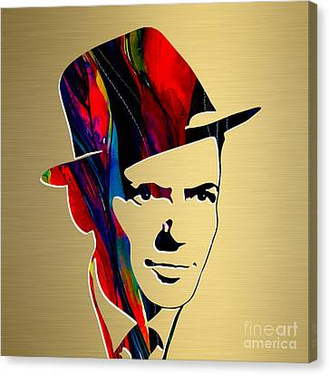 Frank Sinatra Gold Series Canvas Print by Marvin Blaine