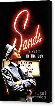 Frank Sinatra I Did It My Way 20150126brun Canvas Print by Wingsdomain Art and Photography