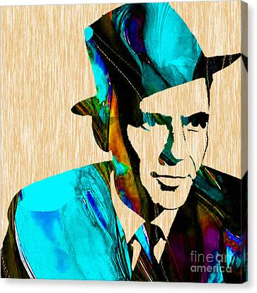 Frank Sinatra Paintings Canvas Print by Marvin Blaine