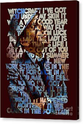 Frank Sinatra - The Songs Canvas Print by Spencer McKain