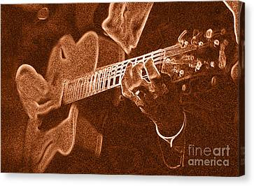 Frank Vignolas Guitar Canvas Print by James L. Amos