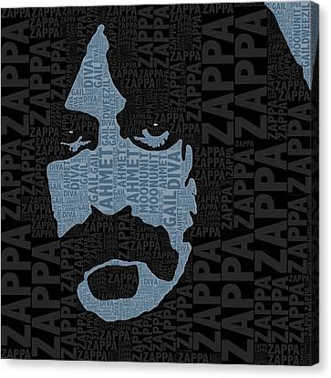 Frank Zappa  Canvas Print by Tony Rubino