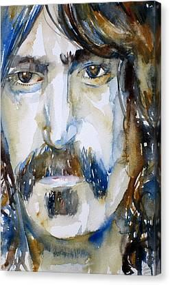 Frank Zappa Watercolor Portrait.2 Canvas Print by Fabrizio Cassetta