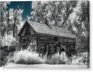 Frankenmuth Cabin Canvas Print by Jeff Holbrook