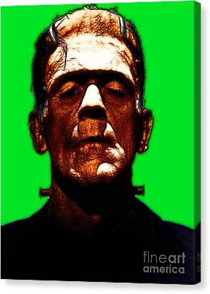 Frankenstein - Green Canvas Print by Wingsdomain Art and Photography