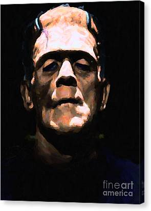 Frankenstein - Painterly - Black Canvas Print by Wingsdomain Art and Photography