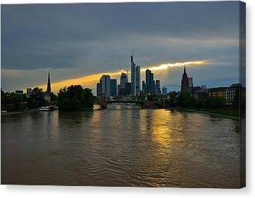 Frankfurt Sunset Canvas Print by Steven Richman