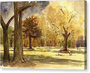Frankfurter Park Canvas Print by Juan  Bosco