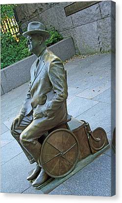 Franklin Delano Roosevelt In A Wheelchair Canvas Print by Cora Wandel