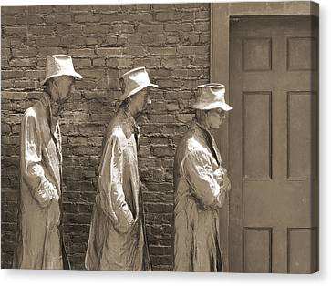 Franklin Delano Roosevelt Memorial - Bits And Pieces1 Canvas Print by Mike McGlothlen