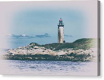 Franklin Island Lighthouse Canvas Print by Karol Livote
