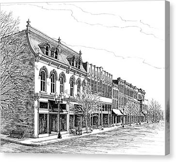 Franklin Main Street Canvas Print by Janet King