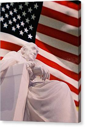 Franklin Remembrance Canvas Print by Richard Reeve