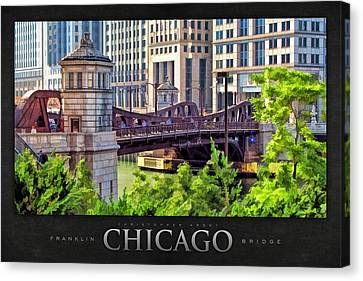 Franklin Street Bridge Poster Canvas Print by Christopher Arndt
