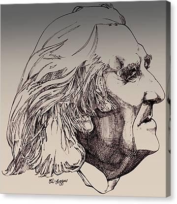 Franz Liszt Canvas Print by Derrick Higgins