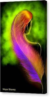 Frather Soft Canvas Print by Mayur Sharma